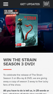 Access All Areas – Win The Strain Season 3 DVD