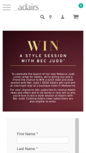 Adairs – Win a Style Session at Adairs With Bec Judd (prize valued at $2,200)