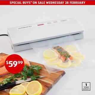 Aldi Australia – Win a Vacuum Food Sealer (prize valued at $75)