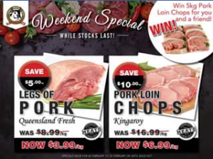 A&M Meats Brisbane – Win 5kg of Pork Loin Chops for You and a Friend