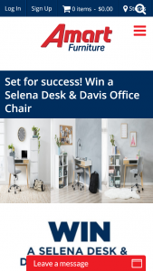 Amart Furniture – Win a Selena Desk & Davis Office Chair