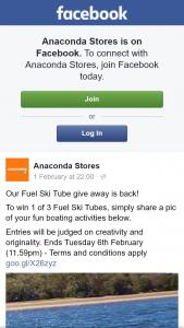 Anaconda – Win 1 of 3 Fuel Ski Tubes (prize valued at $349)