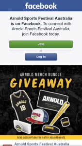 Arnold Sports Festival – Competition (prize valued at $140)