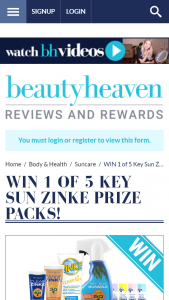 Beauty Heaven – Win 1 of 5 Key Sun Zinke Prize Packs