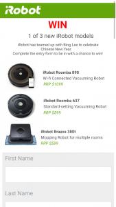 Bing Lee – Win 1 of 3 New Irobot Floor Care Models