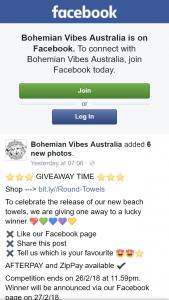 Bohemian Vibes Australia – Win a Beach Towel