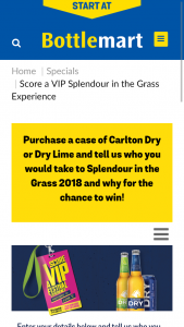 Bottlemart-Carlton Dry – Win a Major Prize (prize valued at $8,000)