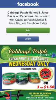 Cabbage Patch Market & Juice Bar – Win One of Two $25 Fruit and Veg Boxes this Week