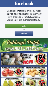 Cabbage Patch Markets – Win One of Two $25 Fruit and Veg Boxes this Week