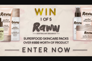 Channel 7 – Sunrise – Win a Raww Cosmetic Superfood Skin Care Pack