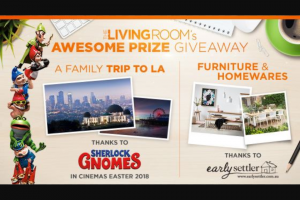 Channel Ten Living Room – Win Trip to La and Furniture (prize valued at $50,000)