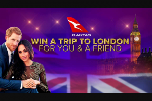 Channel 9 – Today Show – Win The Chance to Come With Us to London for The Royal Wedding (prize valued at $6,863)