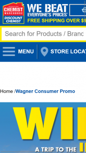 Chemist warehouse – Win a Trip to The Ipl for You and 3 Mates to India Wagner Products