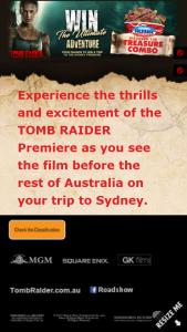 Cold Rock Icecreamy – Win Trip to Sydney to Tomb Raider Premiere