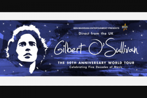 Community News – Win 1 of 10 Double Passes to Gilbert O'sullivan 50th Anniversary World Tour at 8pm on 24 March at Crown Theatre