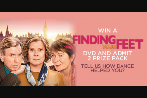 Dendy Cinemas – Win a Finding Your Feet Admit 2 DVD Prize Pack