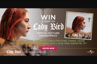 Dendy – Win a Copy of The Lady Bird Soundtrack