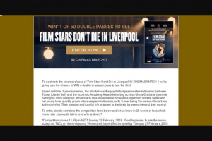 Dymocks – Win a Double In Season Pass to See The Film
