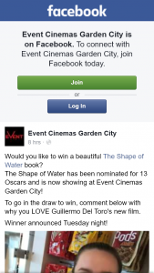 Event Cinemas Garden City – Win a Beautiful The Shape of Water Book