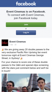 Event Cinemas – Win One of Ten Double Passes to a Special Pacific Rim Uprising Live Q&a Event Streamed Into Vmax 7 With Cast John Boyega and Scott Easwood