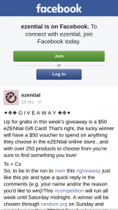 ezential – Win this #giveaway Just Like this Pic and Type a Quick Reply In The Comments {eg Your Name And/or The Reason You'd Like to Win}this #competition Will Run All Week Until Saturday Midnight (prize valued at $50)