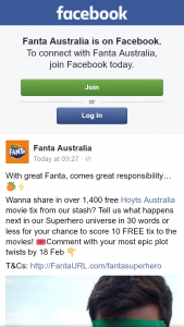 Fanta Australia – Win One of Ten Hoyts Cinemas Double Passes