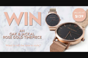 Fashion Weekly – Win The Role Gold Mesh Timepiece Valued at $139 (prize valued at $139)