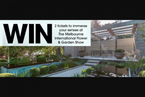Gardening Australia – Win 2 Tickets to Immerse Your Senses at The Melbourne International Flower and Garden Show