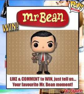 Go Figure collectables – Win a Mr Bean With Teddy Pop Vinyl