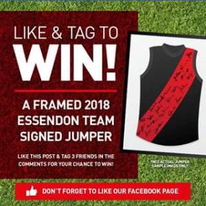 Intersport Australia – Win a Team Signed 2018 Essendon Jumper