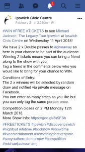 Ipswich Civic Centre – Win a Double Pass to See Michael Jackson The Legacy Tour
