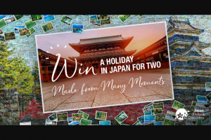 Japan National Tourism Wina holiday to Japan – Win a Trip to Tokyo (prize valued at $12,170)