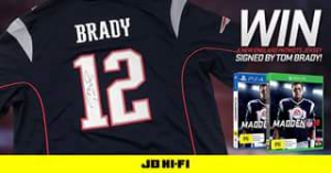 JB Hi-Fi – Win a New England Patriots Jersey Signed By Tom Brady