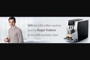 Jura – Win The Z8 Automatic Coffee Machine Valued at $4490 Used By Roger Federer During His Stay In Melbourne (prize valued at $4,490)