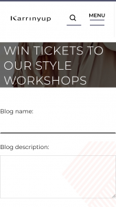 Karrinyup Shopping Centre – Win a Ticket for You and a Friend to Attend One of Our Style Workshops