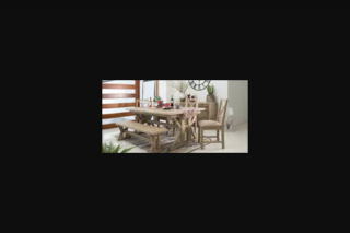 Lifestyle – Win a Stunning Tuscanspring Extension Dining Table and 8 Tuscanspring Chairs With Cushions As Featured on The Show (prize valued at $2,900)