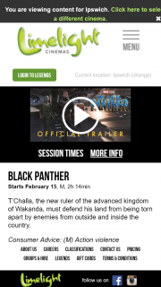 Limelight Cinemas Ipswich – Win a Black Panther Prize Pack