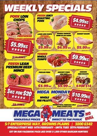 Mega Meats Brown Plains – Win a $50 Voucher (prize valued at $50)