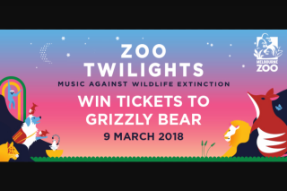 MoshTicket – Win a Night Out at Zoo Twilights for You 3 Mates (prize valued at $306)