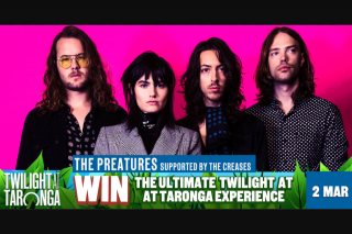 MoshTicket – Win The Ultimate Twilight Experience (prize valued at $309)