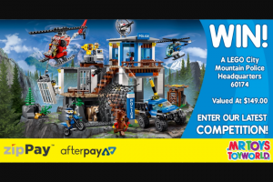 Mr Toys Toyworld – Win a Lego City Mountain Police Headquarters Thanks to Our Friends at Lego (prize valued at $149)