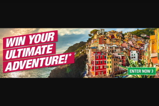 My Adventure Travel – Win Your Ultimate Adventure (prize valued at $5,000)