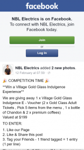 NBL Electrics – Win a Village Gold Class Indulgence Experience (prize valued at $199)