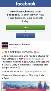 New Farm Cinemas – Win a #findingyourfeet Prizepack