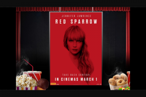 Nova 93.7 – Win Tickets to Nova's Night at The Movies to See 'red Sparrow'