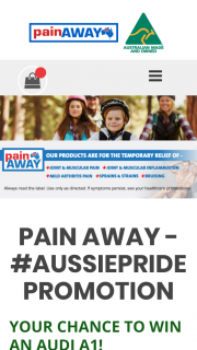 Pain Away – Terry White Chemmart buy any Pain Away product – Win a Maximum of Two (2) Prizes (prize valued at $1)