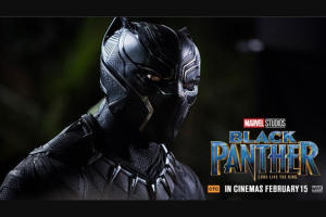Perth Now – Win Tickets to Marvel Studios Black Panther closes 12noon