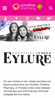 Priceline – Win a Luxury Trip to London's Hottest Fashion Event (prize valued at $6,520)