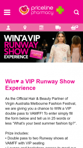 Priceline – Win a VIP Runway Show Experience Valued at Up to $2778 Each (prize valued at $2,778)