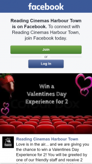 Reading cinemas Harbourtown – Win a Valentines Day Experience for 2
